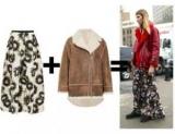 Зимние юбки с верхней одеждой: как стильно сочетать юбку с курткой