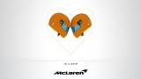 McLaren показывают новый гоночный автомобиль на день святого Валентина