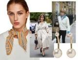 Скромное обаяние буржуазии: как носить жемчуг с шейным платком в стиле принцессы Дианы