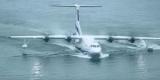 Самый большой гидросамолет в первый раз, вылетели из воды